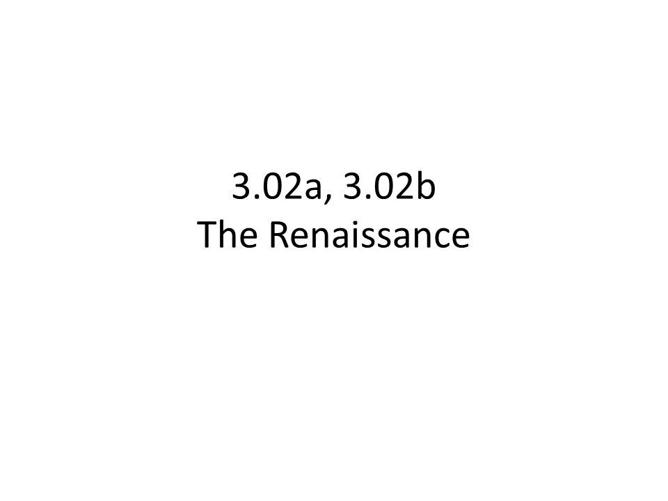 Compare/Contrast What are characteristics of the Italian Renaissance.