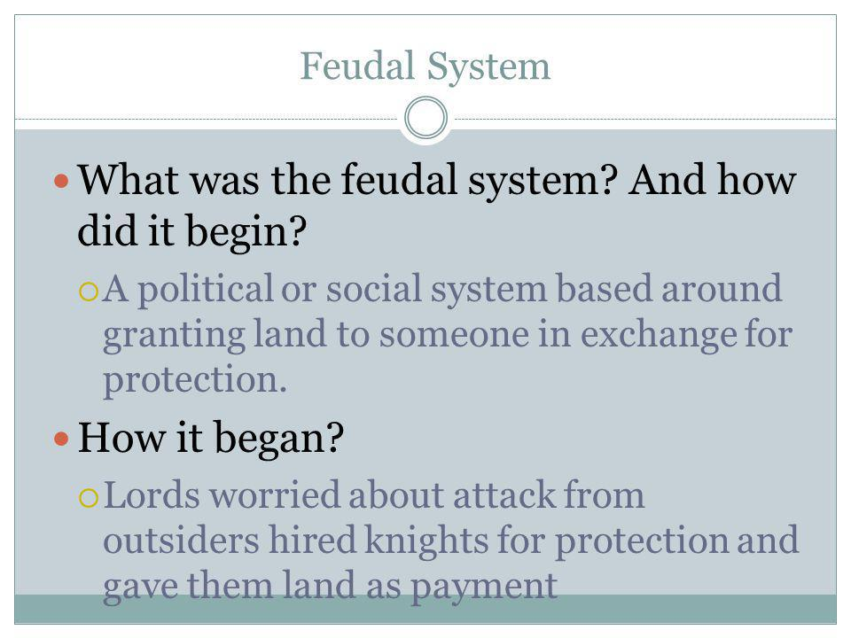 Manorial System What was the Manorial System.