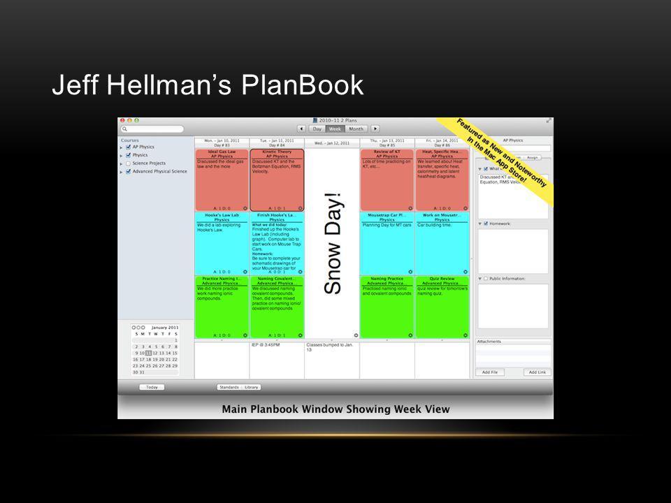 Jeff Hellman's PlanBook