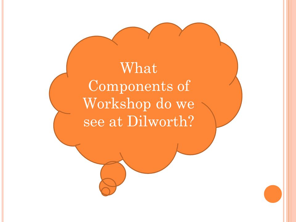 What Components of Workshop do we see at Dilworth