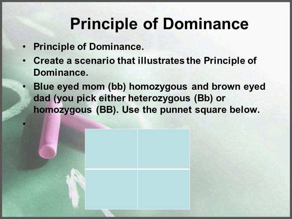 Principle of Dominance Principle of Dominance.