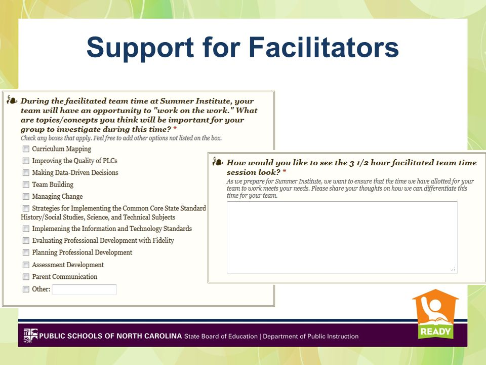 Support for Facilitators