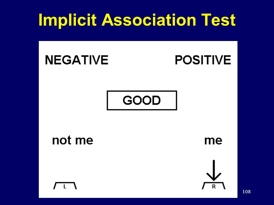 108 Implicit Association Test