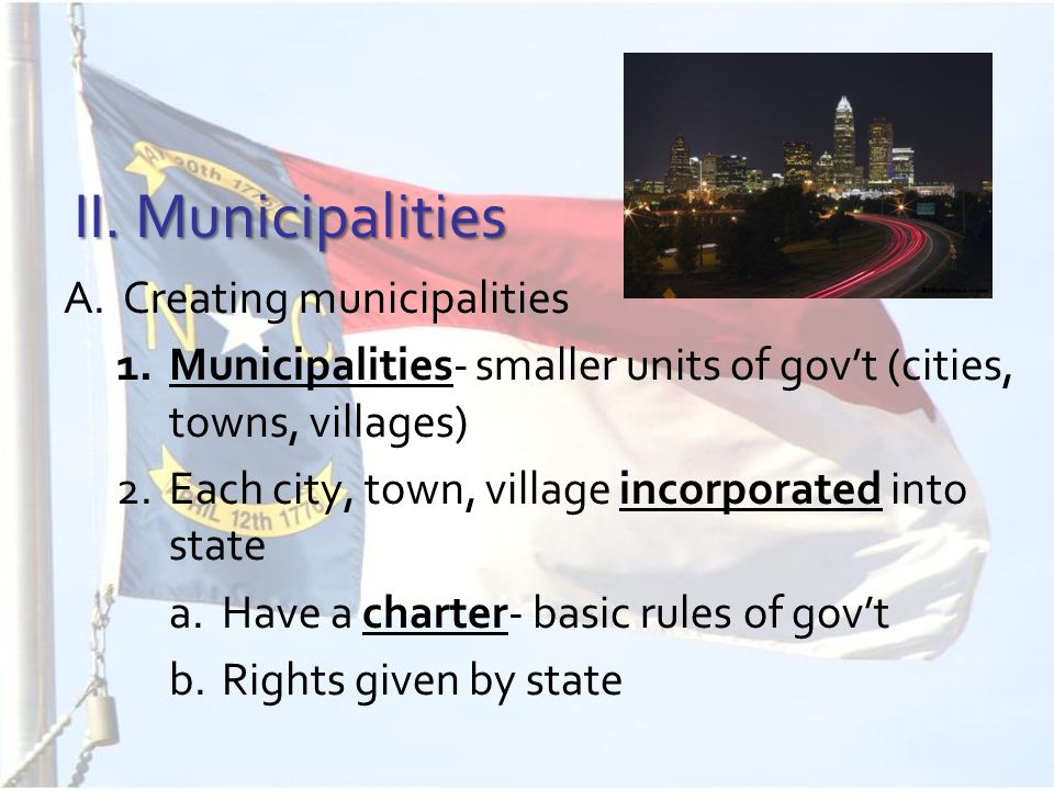 3.Cities expand borders through annexation- adding to city limits 4.Zoning- divide a city into zones (residential, commercial, industrial) 5.Metropolitan areas- cities and the areas around them (ex: Charlotte, Matthews, Concord, etc)