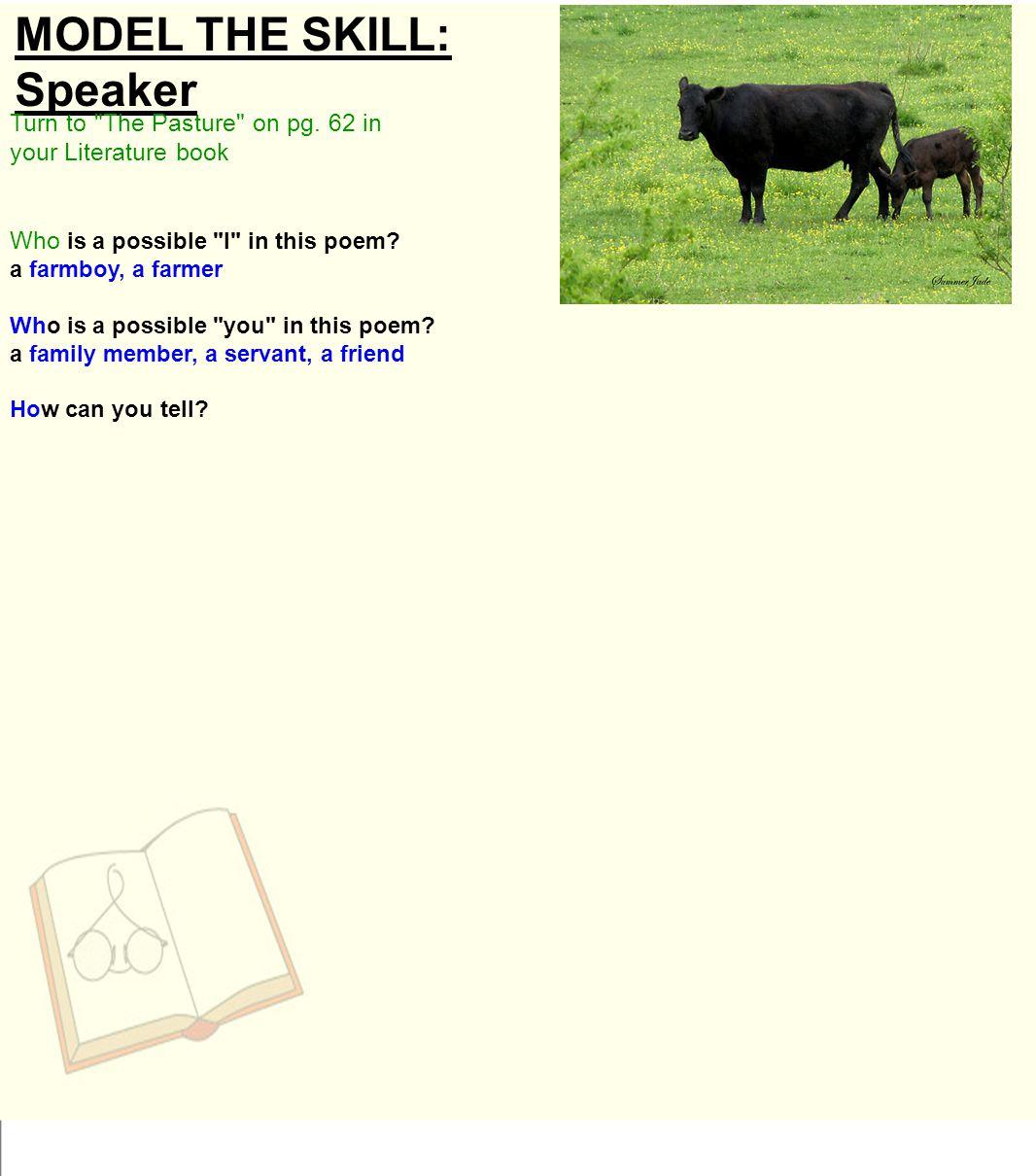 MODEL THE SKILL: Speaker Turn to