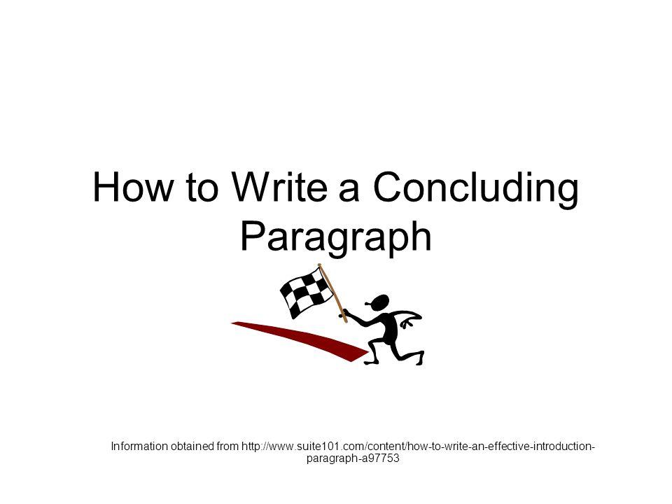 How to write a concluding paragraph?