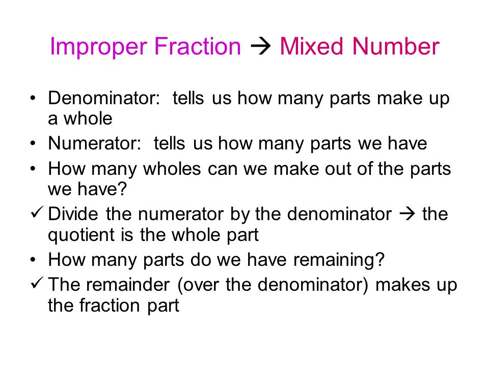 Simplest Form of a Fraction A fraction is in simplest form when there are no common factors in the numerator and the denominator.
