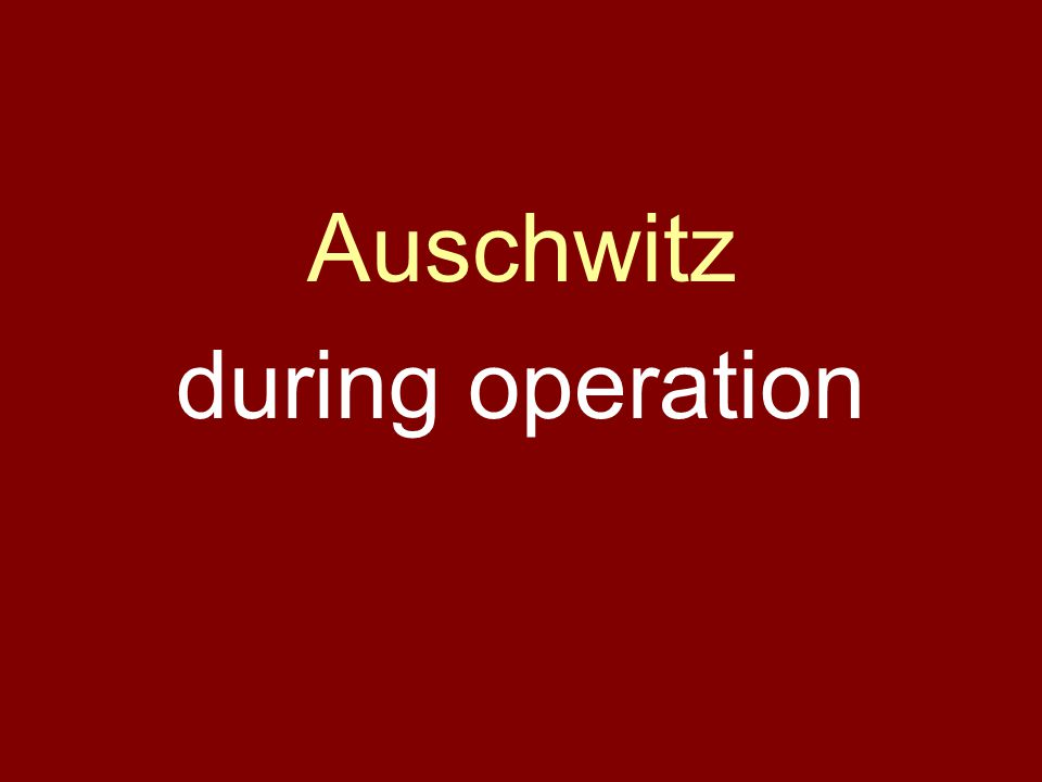 Auschwitz during operation
