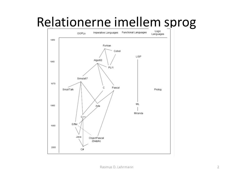 Relationerne imellem sprog 2Rasmus D. Lehrmann