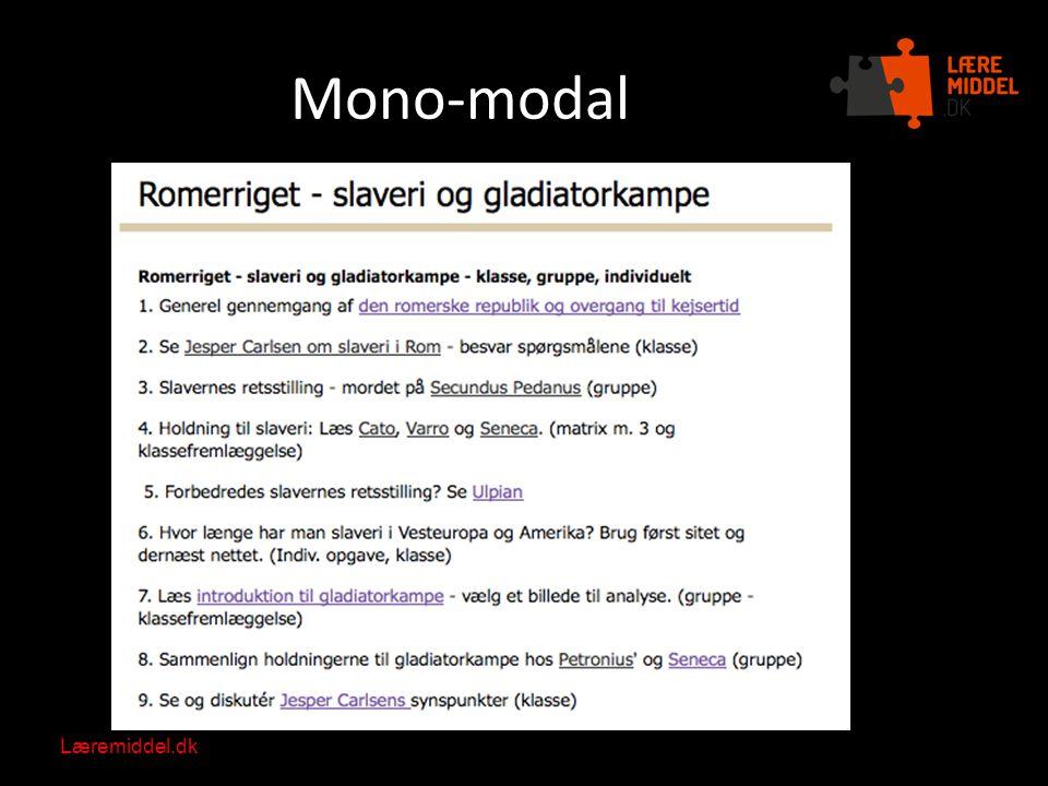 Mono-modal