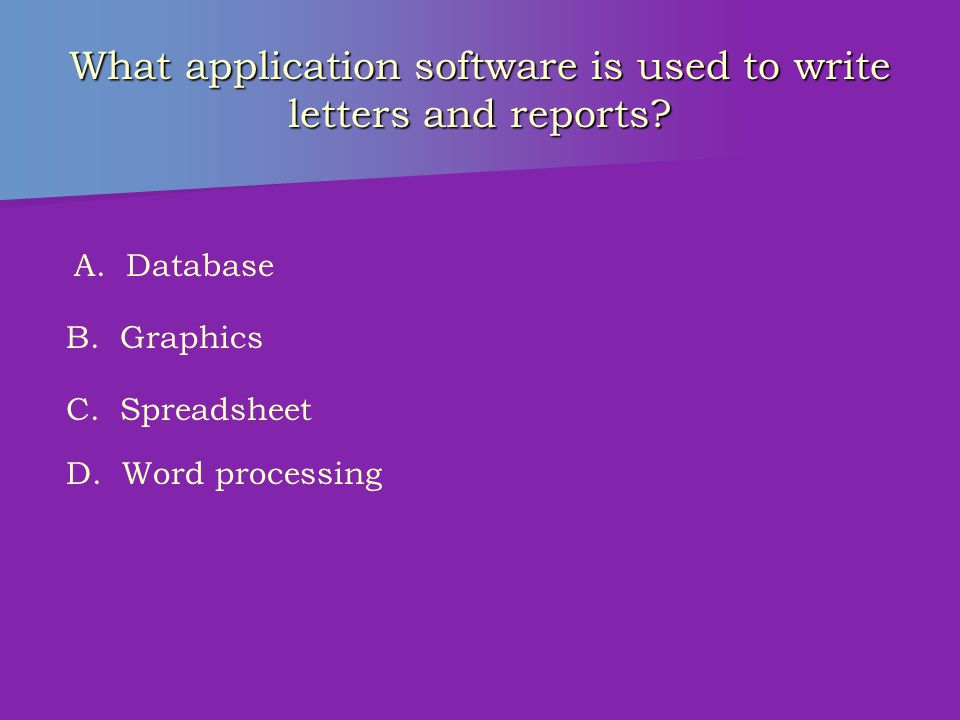 Which type of software controls the operation of a computer system.