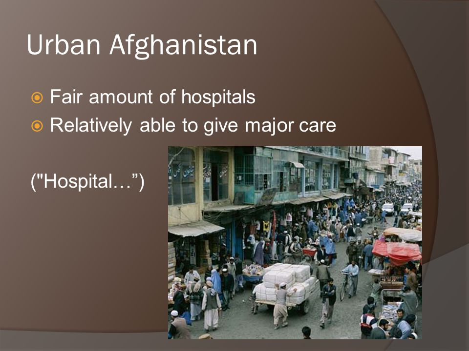 Poor in Afghanistan  Utilize Basic Packages of Health Services (BPHS)  Lower rates of care-seeking if ill than the richer (Steinhardt)