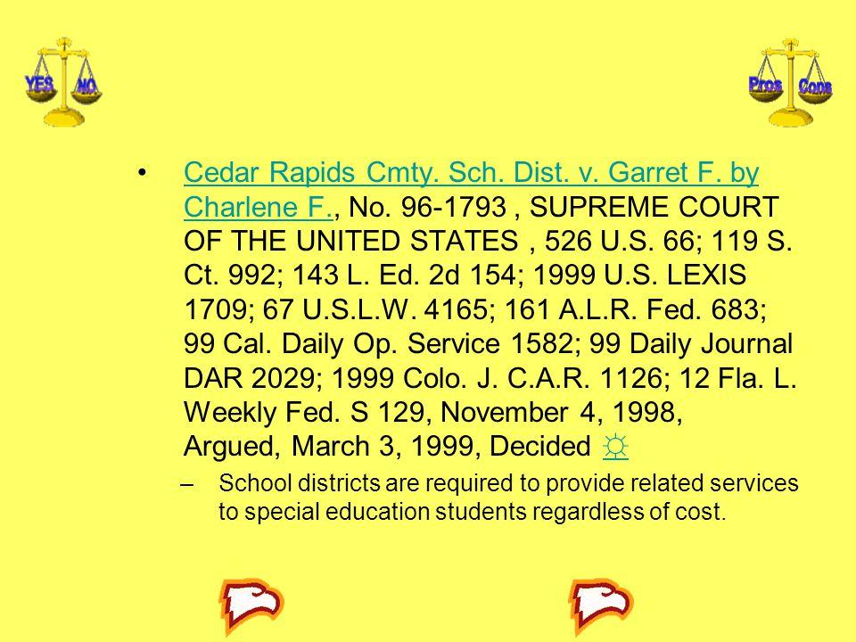 Cedar Rapids Cmty.Sch. Dist. v. Garret F. by Charlene F., No.