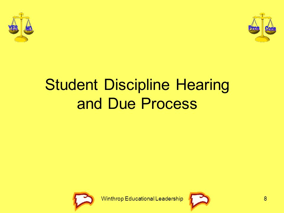 Winthrop Educational Leadership8 Student Discipline Hearing and Due Process