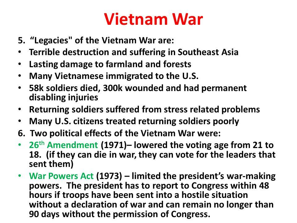 """Vietnam War 5. """"Legacies"""