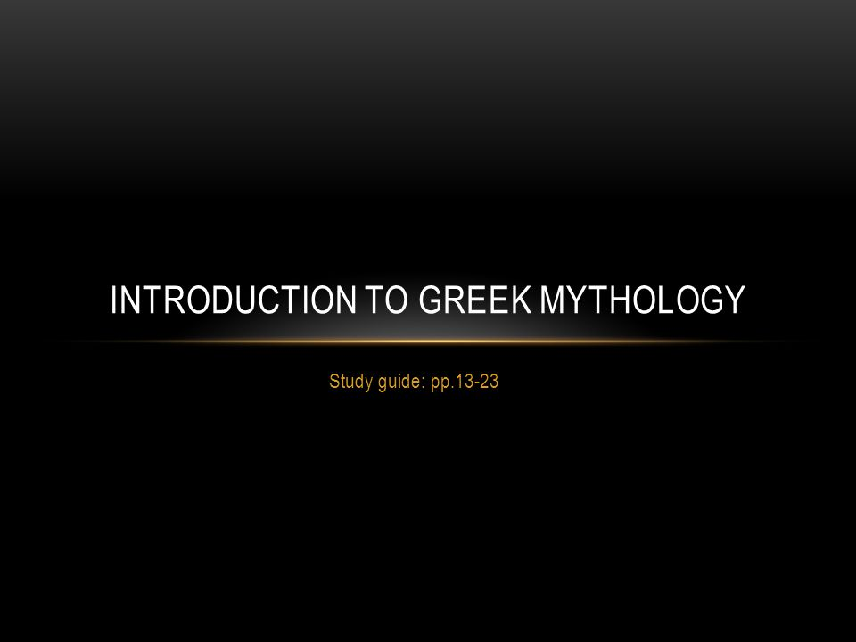 What is Greek mythology.
