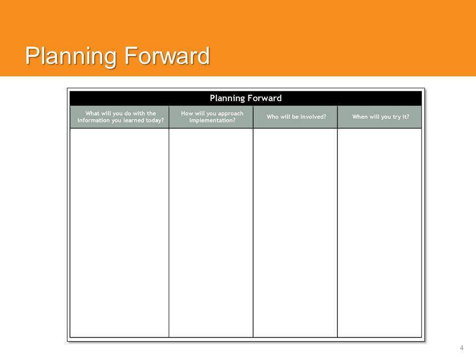 4 Planning Forward