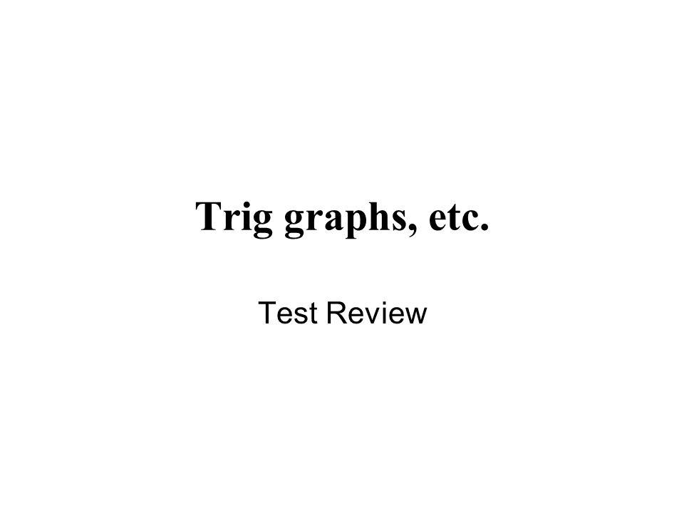 Trig graphs, etc. Test Review
