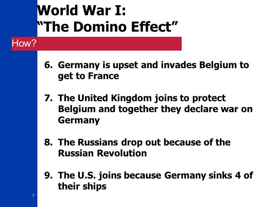 8 World War I: Good Guys vs.Bad Guys Who.