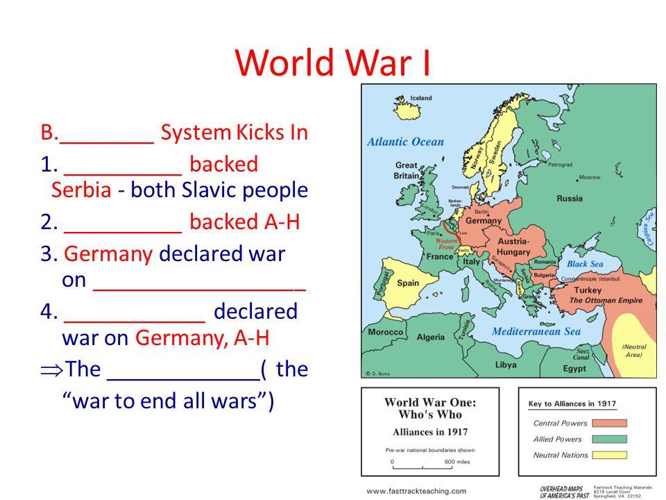 World War I III.Fighting Begins A. _____________ Plan 1.