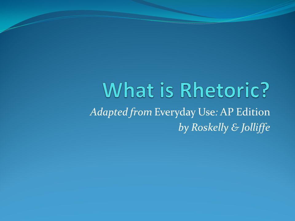 What is rhetoric.