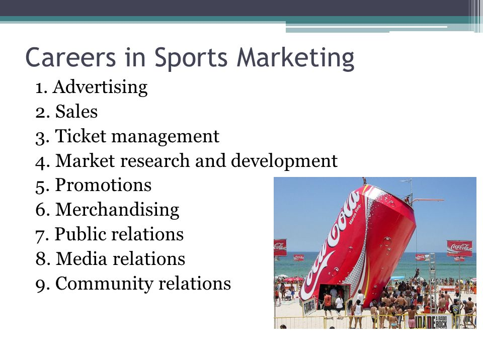CAREERS in SPORT MARKETING Mr. Dawson working at Charlotte Motor Speedway in public relations.