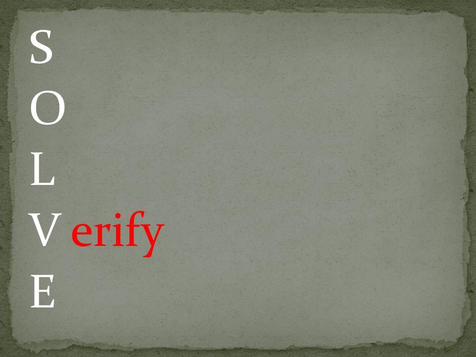 S O L V erify E