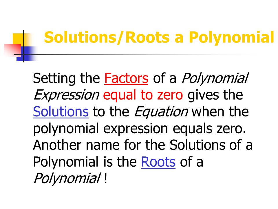 Real/Imaginary Roots Just because a polynomial has 'n' complex roots doesn't mean that they are all Real.