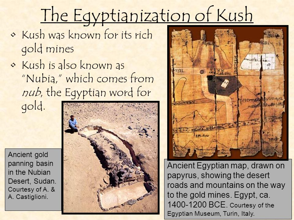 Kush was an important trading hub.