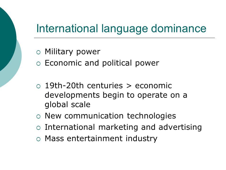 Why do we need a global language.