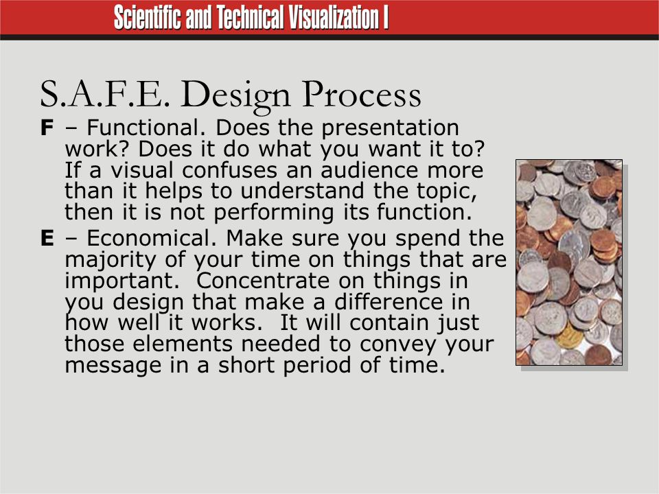 S.A.F.E. Design Process F– Functional. Does the presentation work.