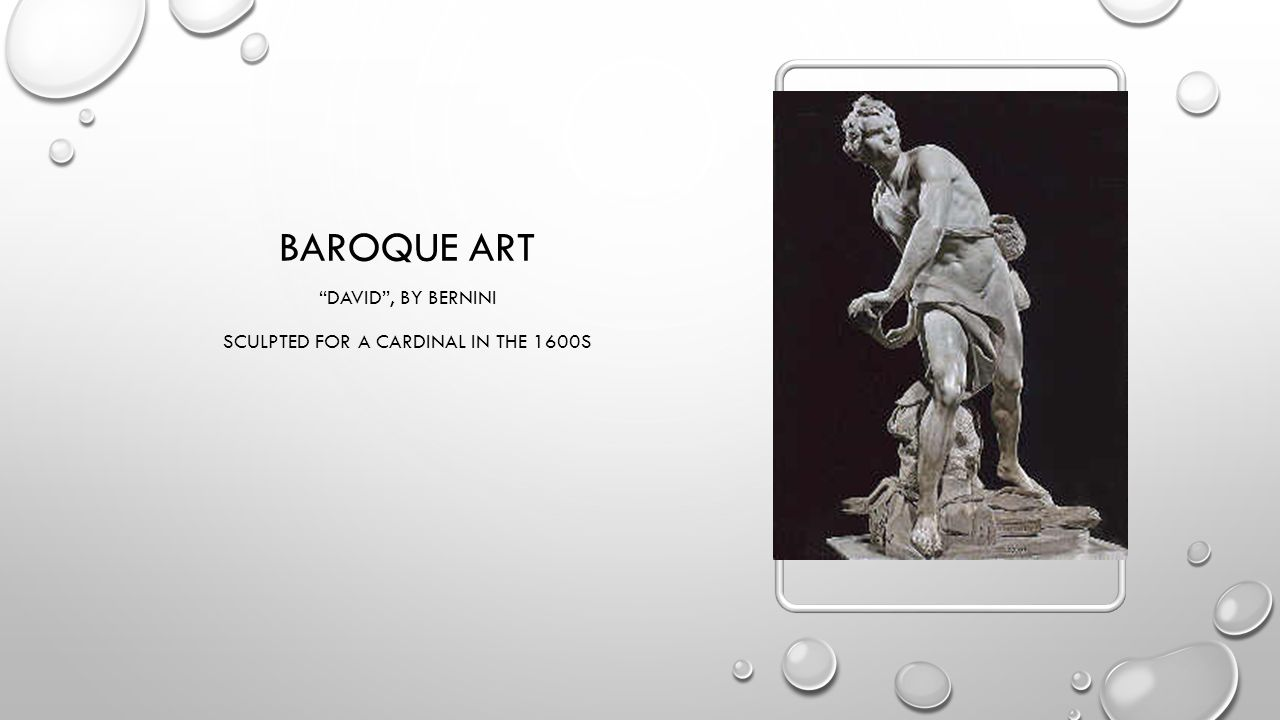 BAROQUE ART DAVID , BY BERNINI SCULPTED FOR A CARDINAL IN THE 1600S