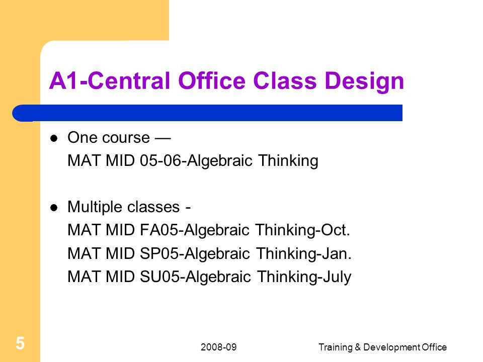 2008-09Training & Development Office 36 Document Library A B C