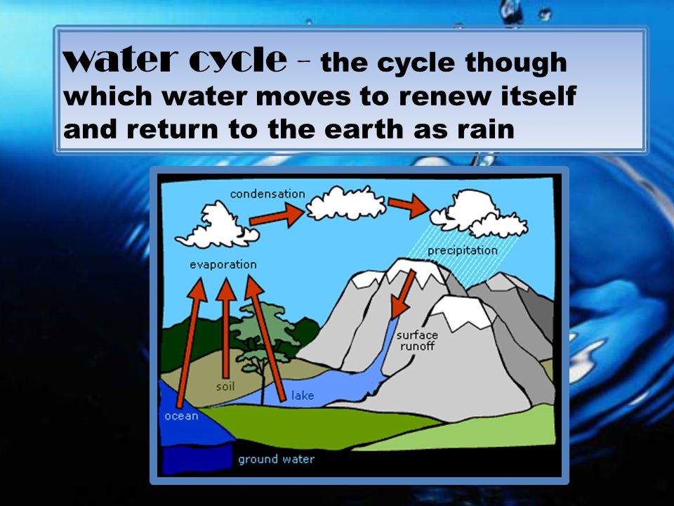 Runoff Water Cycle Water Cycle The Cycle Though
