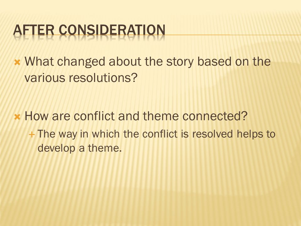  What changed about the story based on the various resolutions.