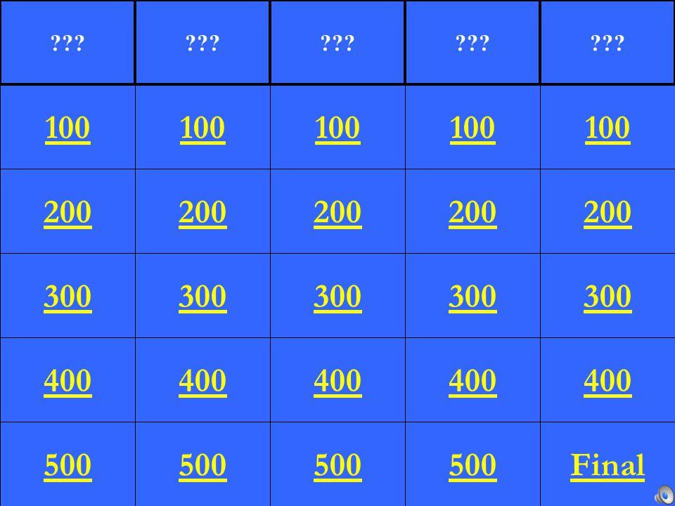 200 300 400 500 100 200 300 400 500 100 200 300 400 500 100 200 300 400 500 100 200 300 400 Final 100 ???