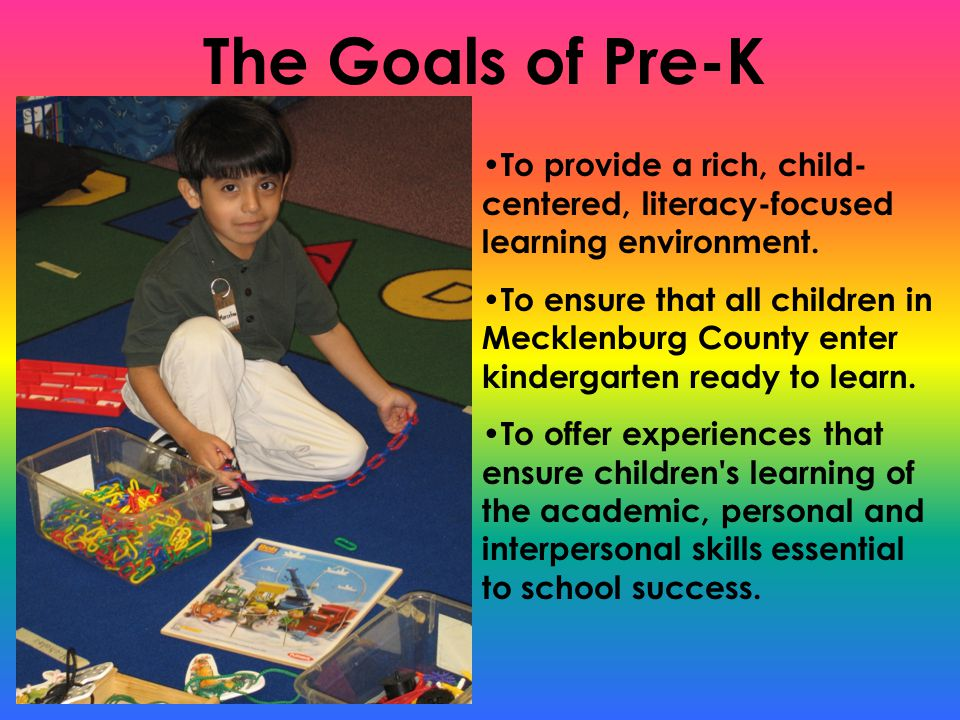 History of Pre-K Programs The program offers the following: Comprehensive Curriculum Certified Teachers Ongoing Parent involvement Currently Pre-K is offered in a variety of settings: Elementary Schools Child Care Centers