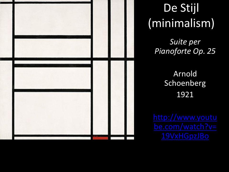 De Stijl (minimalism) Suite per Pianoforte Op.