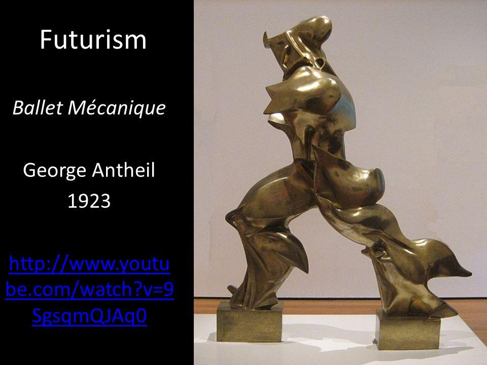 Futurism Unique forms of Continuity in Space Umberto Boccioni 1913