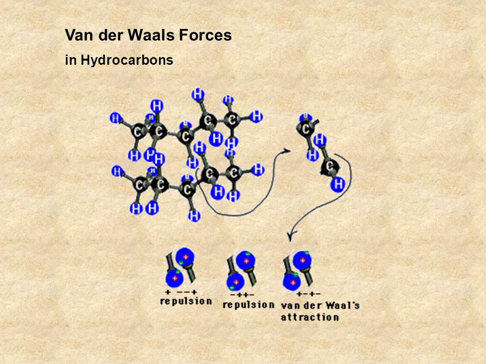 Van der Waals Forces in Hydrocarbons