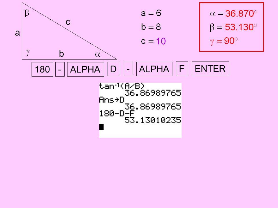 a b c 10 180 - ENTER ALPHA D - F