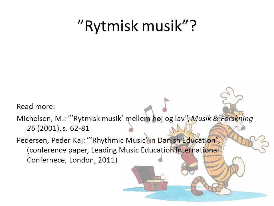 Rytmisk musik .