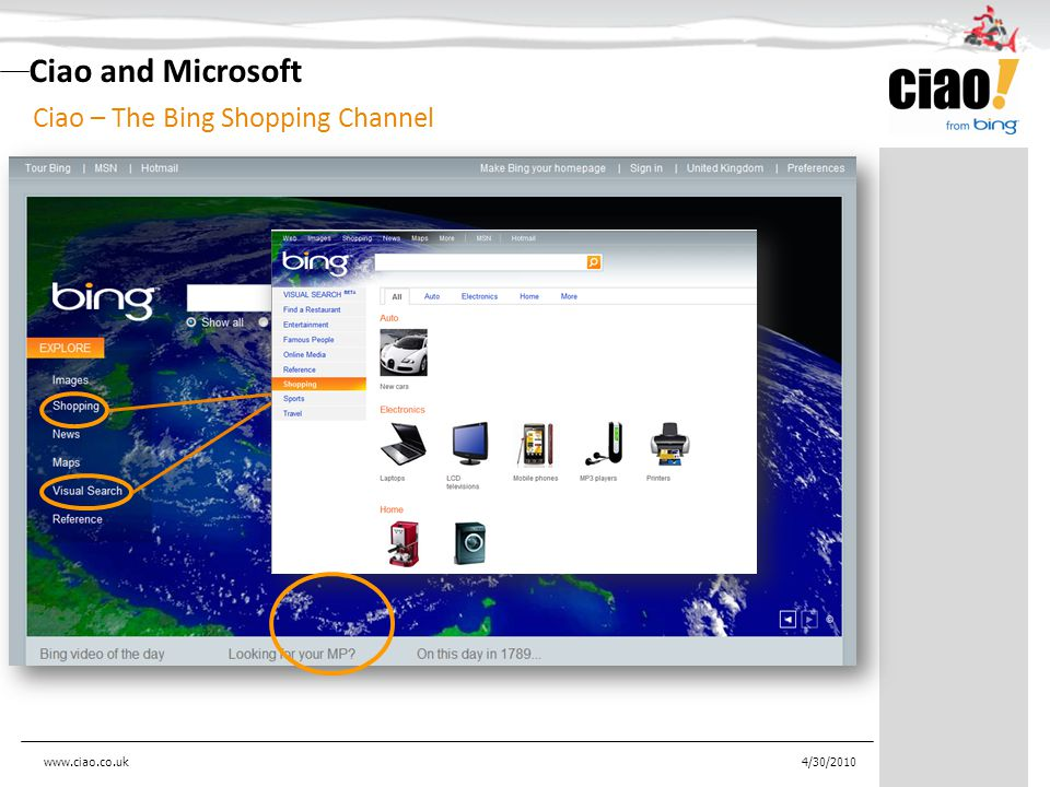 4/30/2010 Ciao and Microsoft Ciao – The Bing Shopping Channel www.ciao.co.uk