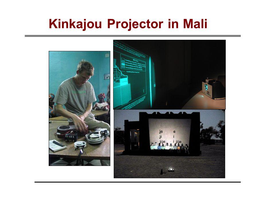 Kinkajou Projector in Mali