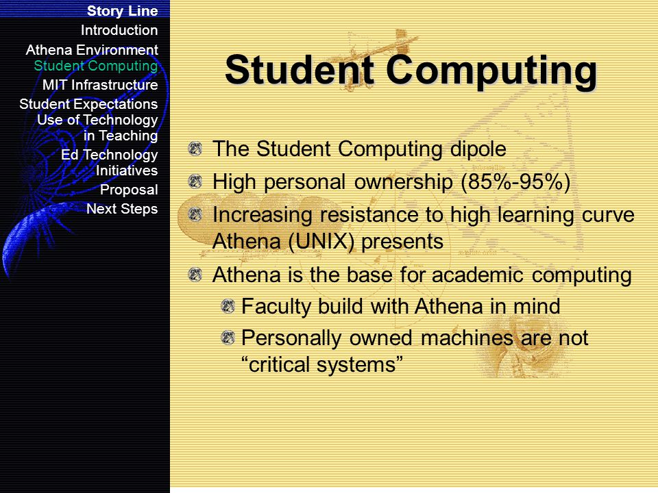 The Athena Computing Environment The Student Computing Class System The Elite It's not just a job, it's an adventure.