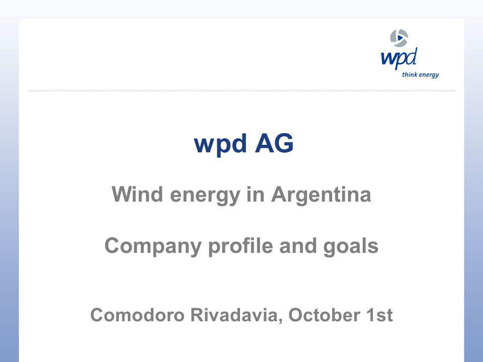 Introduction Arvid Hesse 34 years old Graduate in Energy Engineering Engaged in wind energy development since 2000 Special focus on green field development and technical aspects of wind farm planning At wpd responsible for Greece and South America