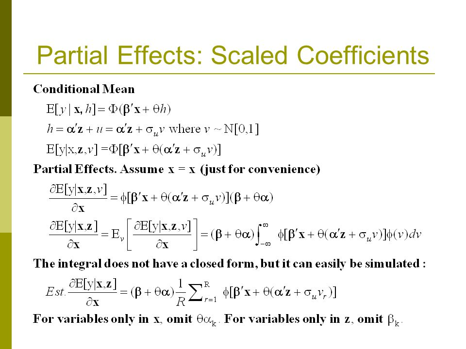 Partial Effects: Scaled Coefficients