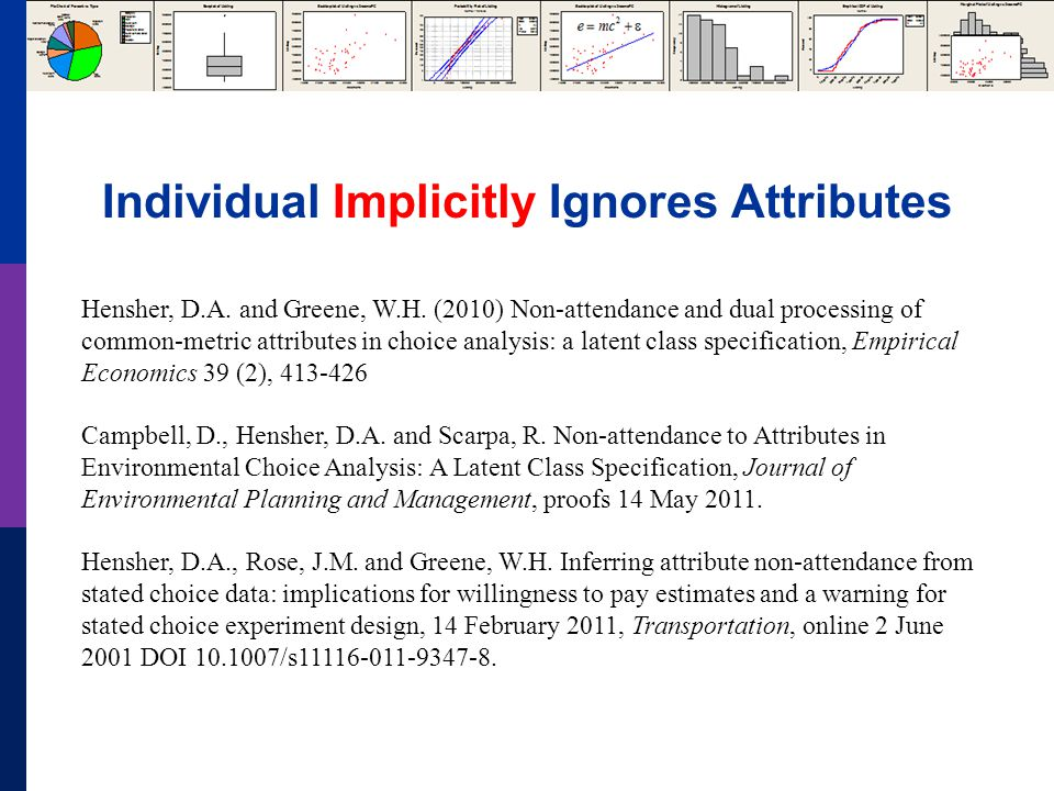 Individual Implicitly Ignores Attributes Hensher, D.A.