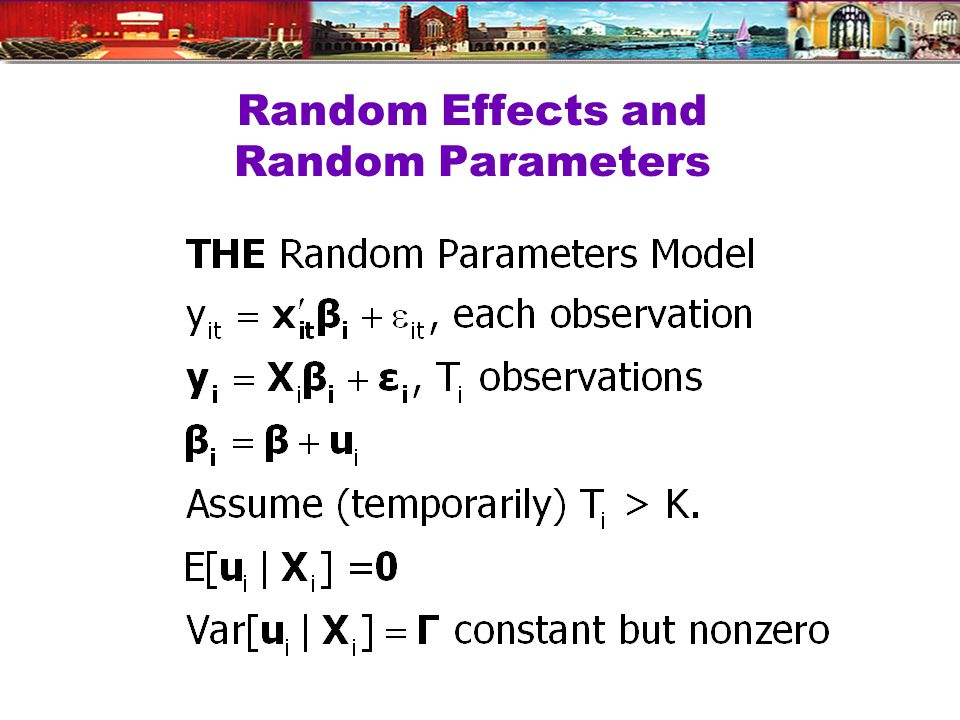 Random Effects and Random Parameters