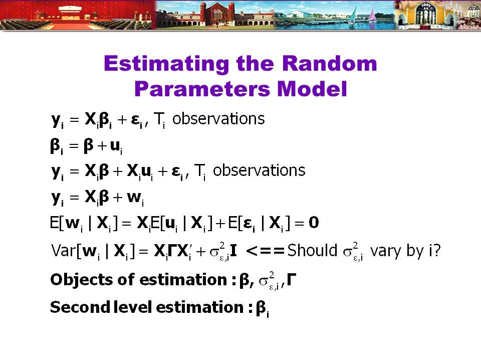 Estimating the Random Parameters Model